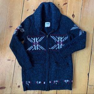 ARITZIA sea to sky zipper sweater cardigan